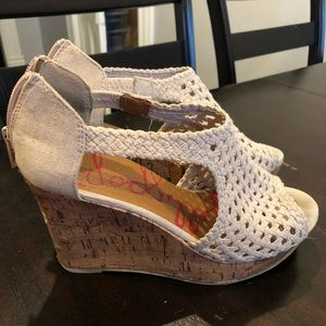Nude wedge heels. Great condition. Size 8.
